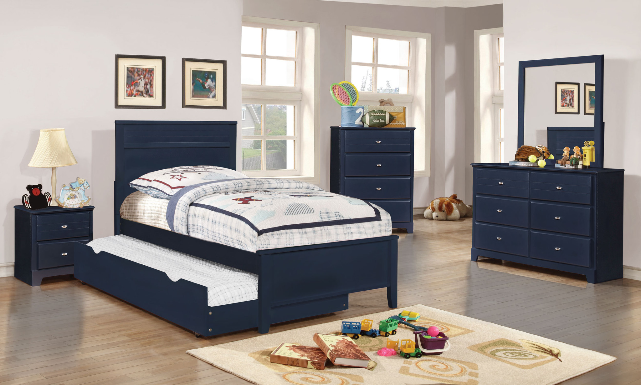 Boys blue bedroom furniture