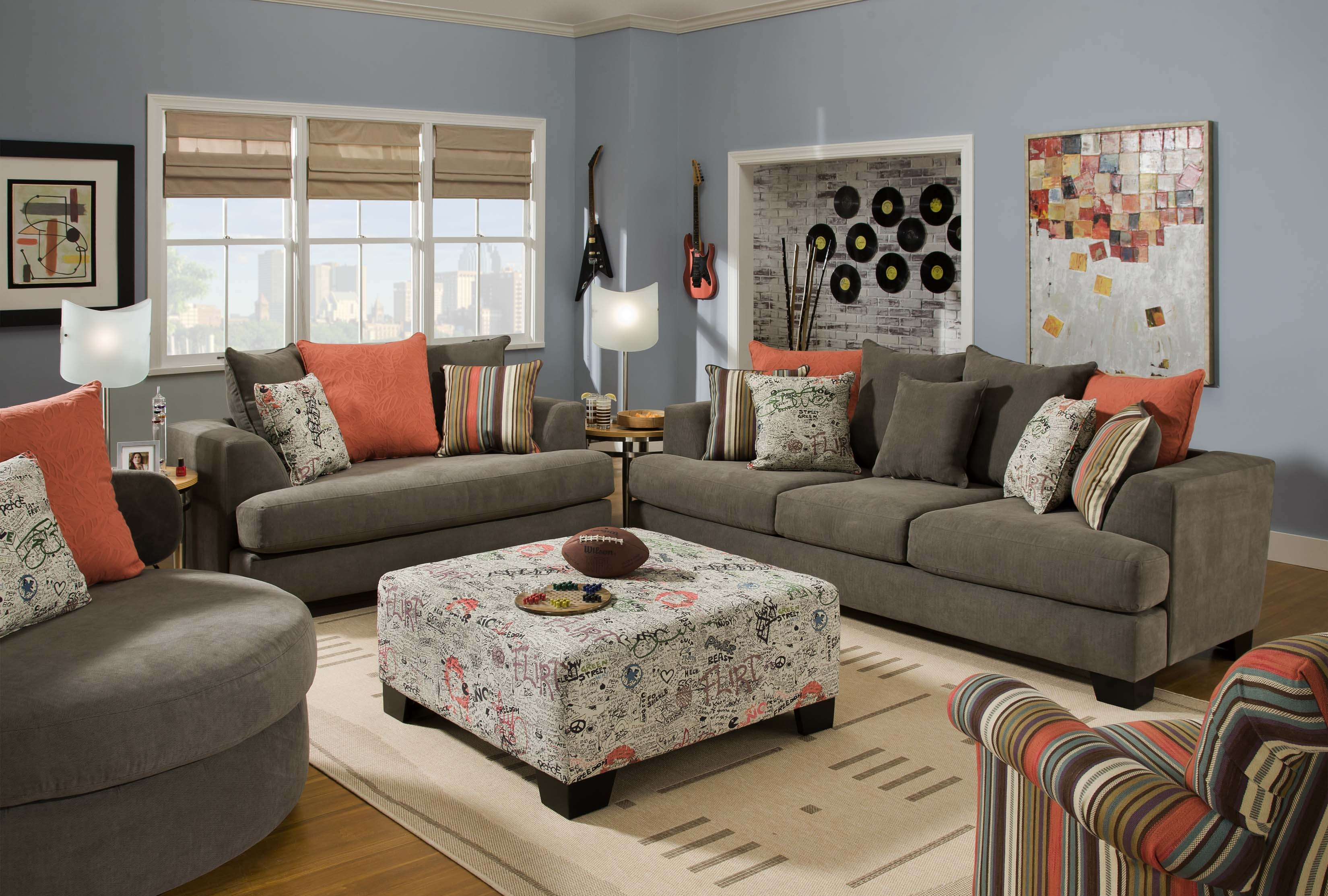 Awesome Grey Living Room Furniture Sets